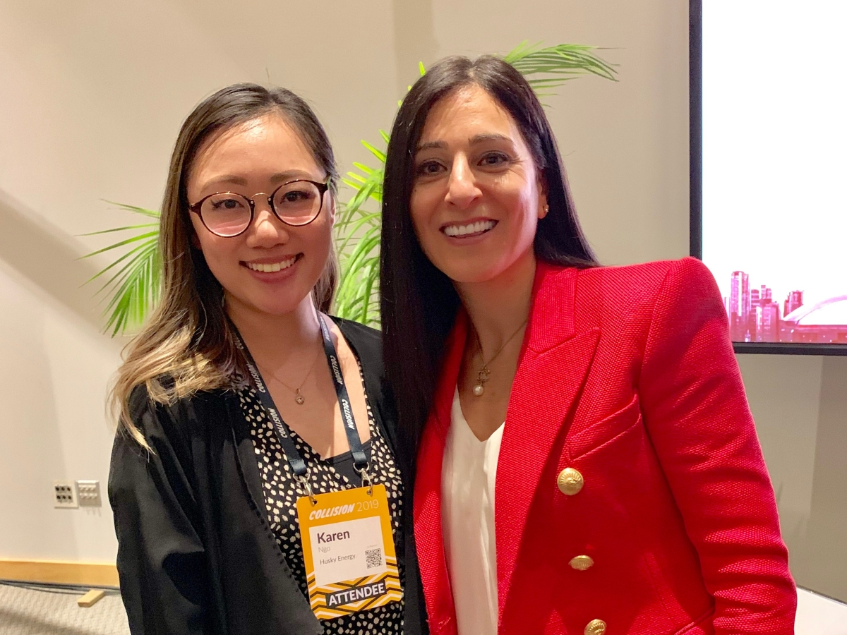 With Rola Dagher at Collision Conference 2019